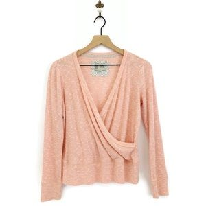 Anthropologie Saturday Sunday Cloudfleece Wrap Top